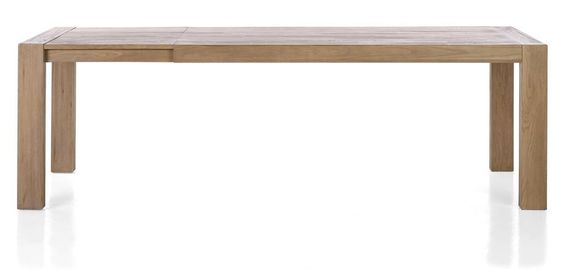 Tulsa, table a rallonge 190 (+ 60) x 100 cm