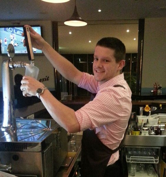 Orient east inimitable bar man extraordinaire #aussieaussieassieoioioi #unitedcoloursofbenetton