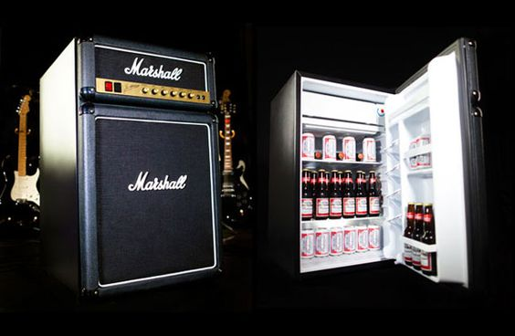 The Marshall fridge. Great for the man-cave :p