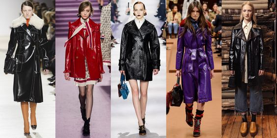 Patent Leather Trench Coats: