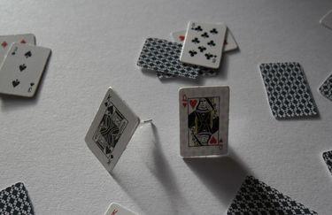 Karten Spiel Ohrstecker Poker Karten Ohrringe Scat