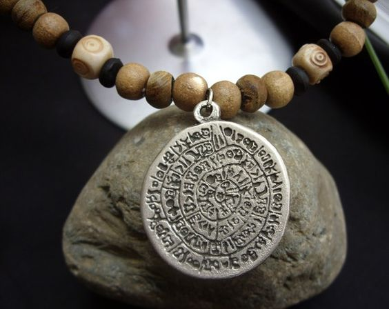 Cryptic Phaistos Necklace by The Gypsy Bead