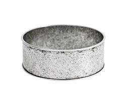 "Nunn Design Antique Silver (plated) 1"" Channel Bangle Bracelet 70mm"