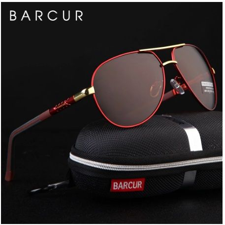 Barcur الألومنيوم المغنيسيوم الرجال النظارات الشمسية الرجال مرآة مطلية بطبقة مستقطبة نظارات Oculos Mens Sunglasses Mirrored Glasses Eyewear Accessories