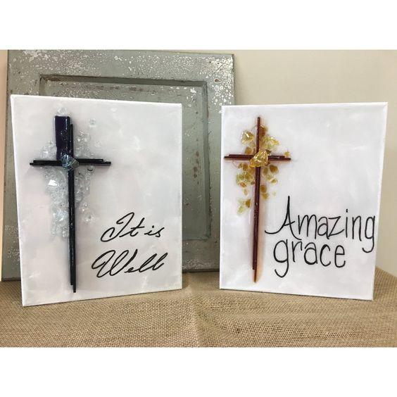 Trust In God Cross Azuria 8 X 10 Amazing Grace Cross Girls Night Crafts Trust God