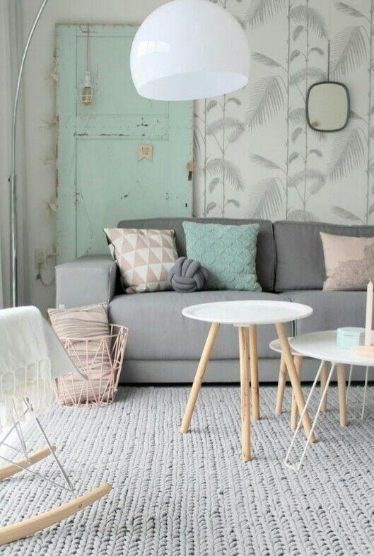 Idée deco pour un salon avec des jolies couleurs pastels | idée ...