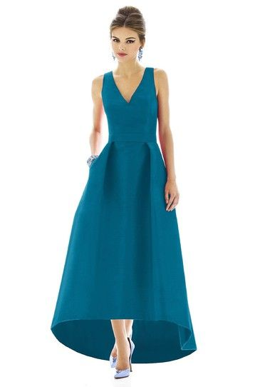 Alfred Sung D589 Bridesmaid Dress in Blue