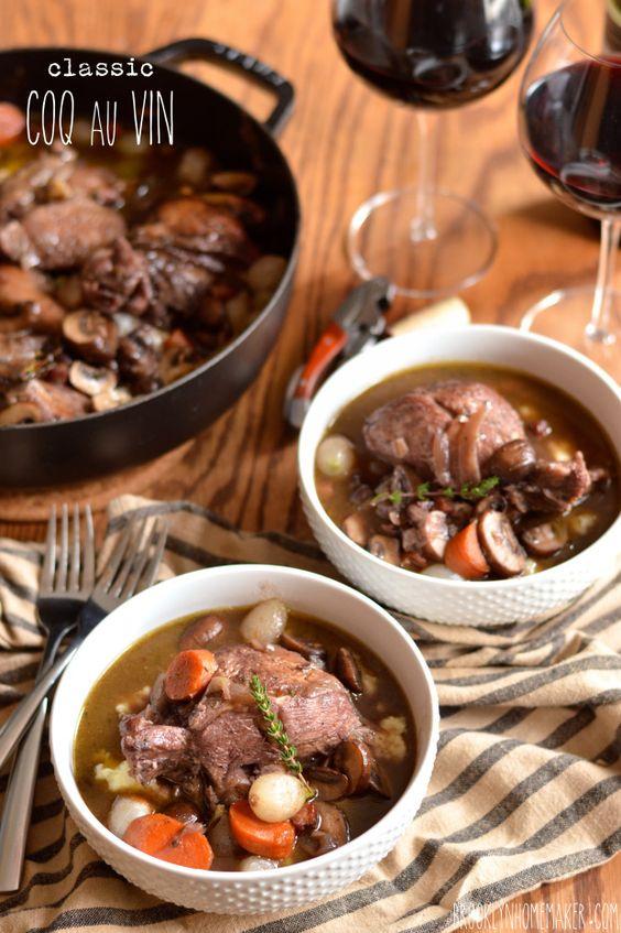 What is a classic coq au vin recipe?
