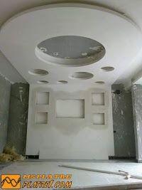 Chambre a coucher en pl tre faux plafonds pinterest for Gabs marocain moderne
