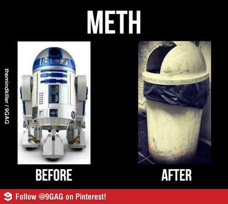 Effects of Meth on R2D2.