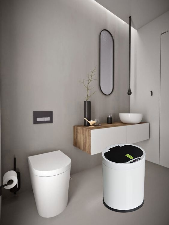 Motion Sensor Trash Can Powder Room Design Powder Room Small