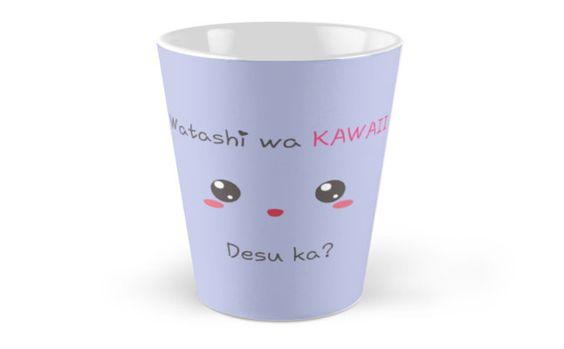 Buy it : http://www.redbubble.com/people/aoko/works/13987397-watashi-wa-kawaii-desu-ka?p=mug