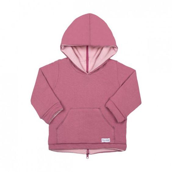 Dessuadora reversible rosa inglés/rosa pal