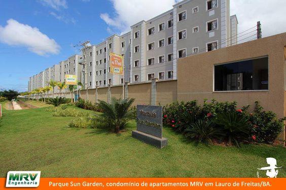 Paisagismo do Parque Sun Garden. Condomínio fecado de apartamentos localizado em Lauro de Freitas/ BA.