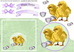 Baby Chicks with eggs on Craftsuprint - View Now!