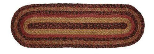 """Berkshire Jute Stair Tread Oval 8.5x27"""" by Victorian Heart. $11.20. See Product Description below for more details!. All cloth items in our collections are 100% preshrunk cotton. All braided items (like rugs, baskets, etc.) are 100% jute. Extensive line of matching items and accessories available! (Search by Collection name). High end quality and workmanship!. Product measurements and additional details listed in title and/or Product Description below.. 100% Jute"""