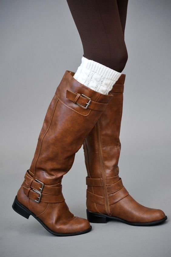 Add some leg warmers to those boots!
