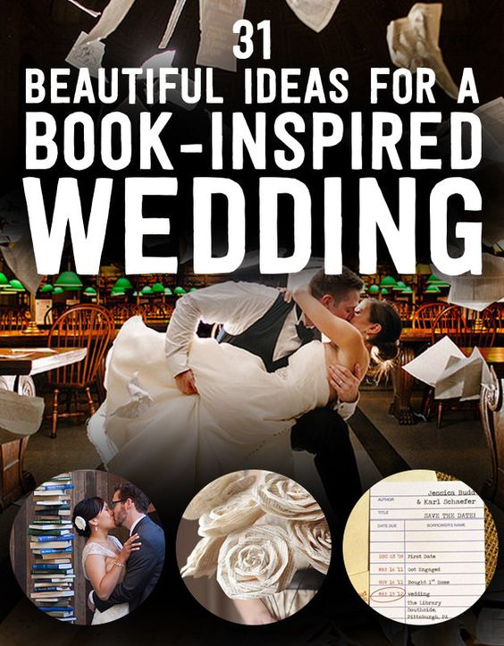 31 Beautiful Ideas For A Book-Inspired Wedding! Fabulous, fabulous, fabulous! #literary #wedding #books