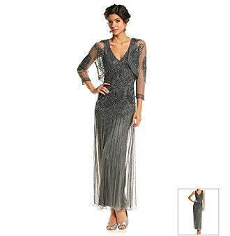 Pissaro Nights Beaded Long Dress With Jacket from Boston Store ...