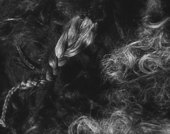When Auschwitz was liberated, the Soviet Army found about 7,000 kilograms of human hair. This was only a fraction of the hair cut from the heads of the Jews at Auschwitz; the rest of the hair had been sent to the Alex Zink company in Bavaria to be made into various products.