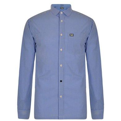Richardson Check Shirt Description: This casual Weekend Offender Richardson long sleeved shirt is crafted from a lightweight cotton in a tonal check print.  Size selection: Standard sizingFits true to size, take your normal size100% cottonMachine washable Sky Blue Extra Lge Price: GBP: 30 Buy Now   http://qualityclothing.me.uk/richardson-check-shirt-7/