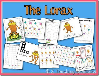 Lorax printables!  Whoohoo!: Preschool Activities, Preschool Unit, Preschool Printables, Dr Seus, Preschool Pack, Lorax Preschool, Free Printable, Preschool Dr, Lorax Printable