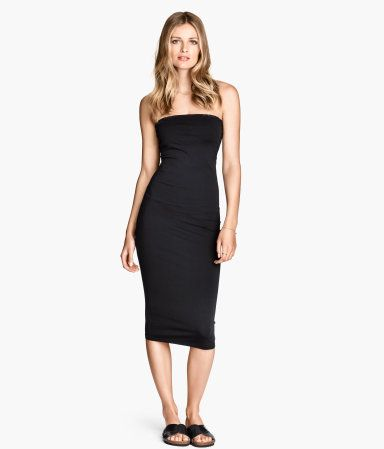 Black strapless tube dress for a casual night out on the town! H&amp-M ...