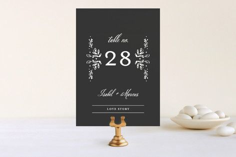 Tiny Initials Wedding Table Numbers by Susan Brown at minted.com