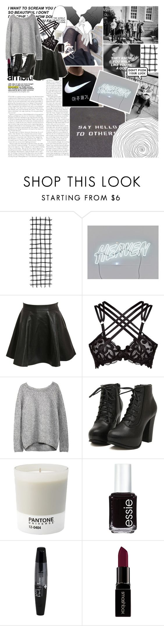 """""""please close those pretty lips"""" by calliopes ❤ liked on Polyvore featuring Pilot, Agent Provocateur, Calle, Pantone, Essie, NYX, Smashbox, Bling Jewelry, women's clothing and women"""