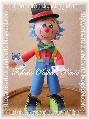 Crisarte - Creación de Arte: Molde del Mes - Fofucho Popsicle Clown