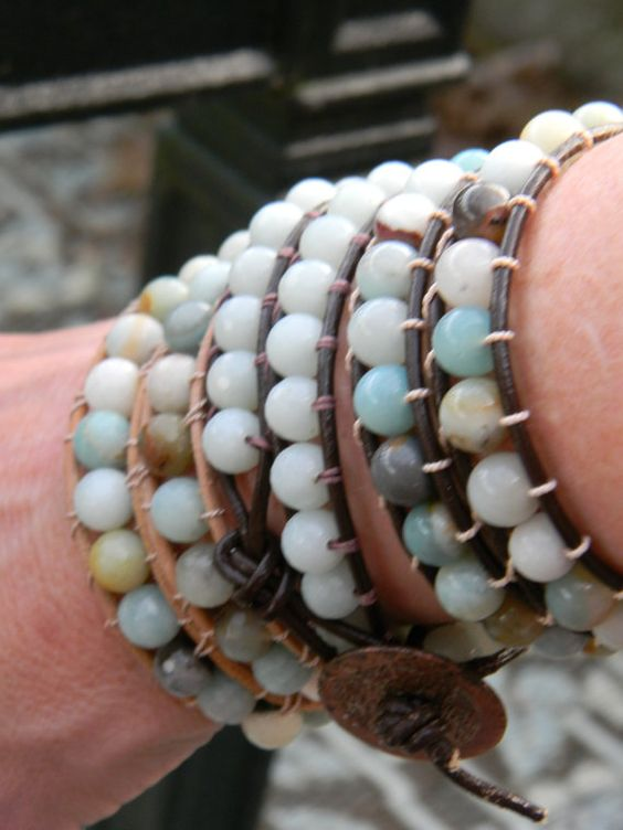 Love the multiple Double Wrap Leather Bracelets