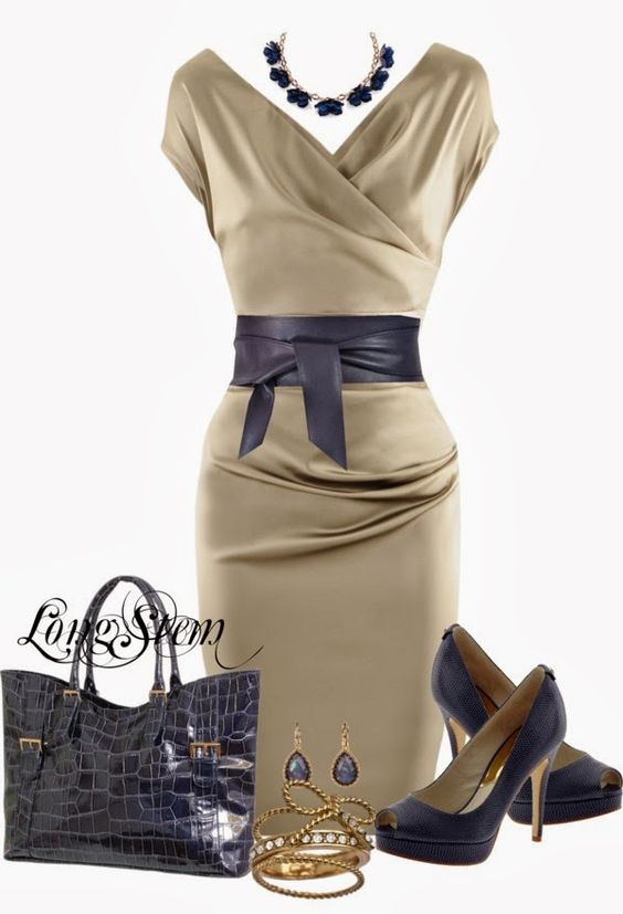Elegant Outfits | The Dress  Talbot Runhof dress, MICHAEL Michael Kors shoes, Lolita ring, Tory Burch necklace, Sash Belt, Leather Handbag  by longstem: