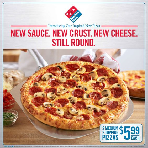 (2/2) domino's pizza turnaround. This ad builds customer's knowledge of the brand and what they have done, aims to inform its old and new consumers
