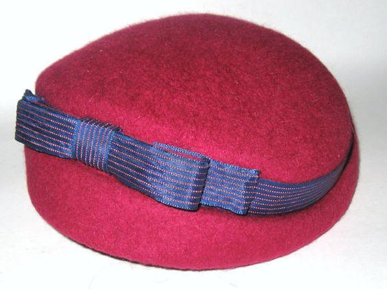 Vintage 1940s NEW LOOK Raspberry Red Wool Tweed by CovetedCastoffs, $50.00