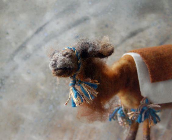 SALE Nativity Camel Brown by SarafinaFiberArt on Etsy, $195.00