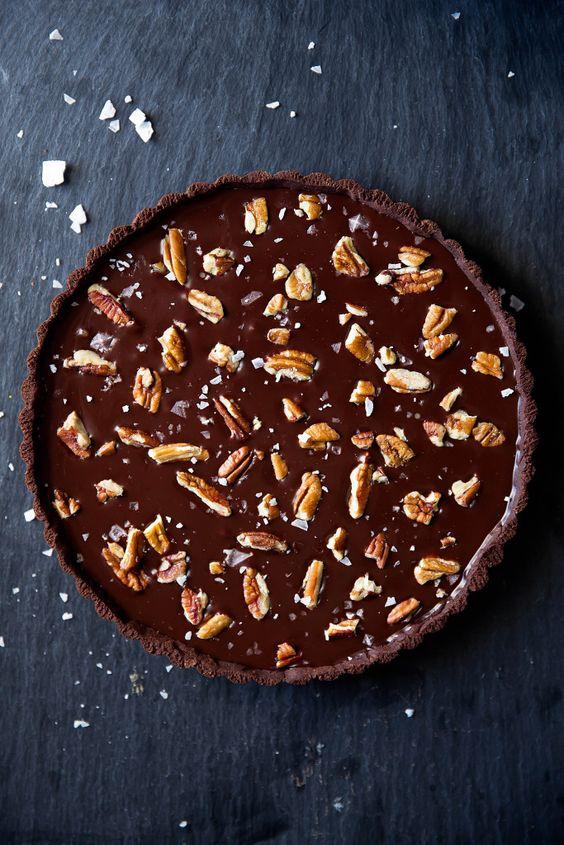 Salted caramel chocolate tart, Chocolate tarts and Salted caramel ...