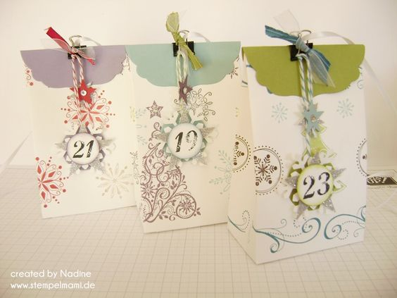 Adventskalender Advents calendar Stampin Up Stempelmami 004