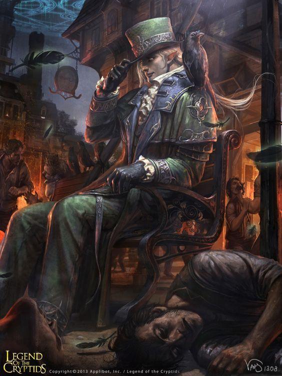 Valentine Payne Artist: Yang Mansik aka yam8417 - Title: aunas L O C - Card: Anoss, Avatar of Hell