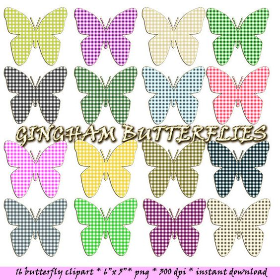 Butterfly digital clipart: colorful butterflies with by LucyPlanet