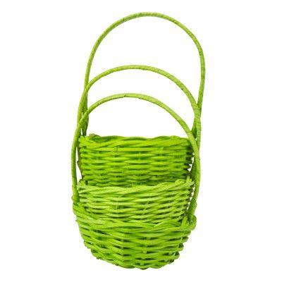 Mini panier vert anis x3 - Déco mariage / Baptème - Objet de déco - Décoration | GiFi: