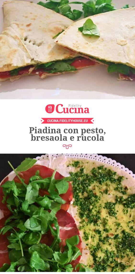 #Piadina con #pesto, #bresaola e #rucola della nostra utente Francesca. Unisciti alla nostra Community ed invia le tue ricette!
