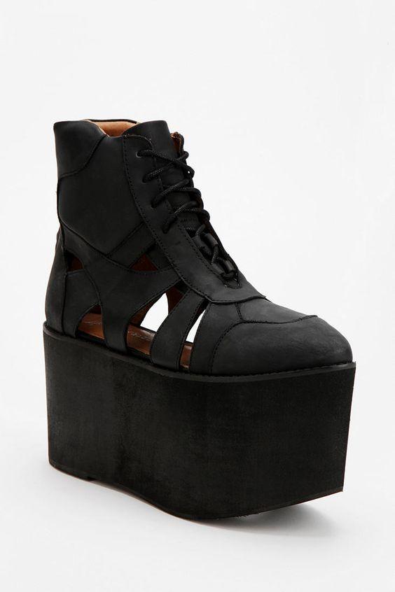 Jeffrey Campbell Stein Extreme High-Top Flatform-Sneaker