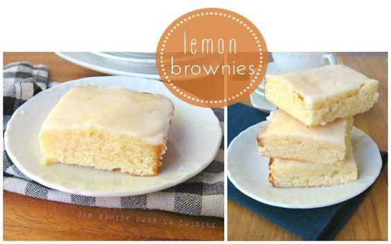 Lemon Brownies | une Gamine dans la Cuisine
