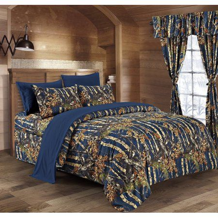 7 PC REGAL COMFORT WHITE CAMO COMFORTER SHEETS PILLOW CASES CAMOUFLAGE QUEEN