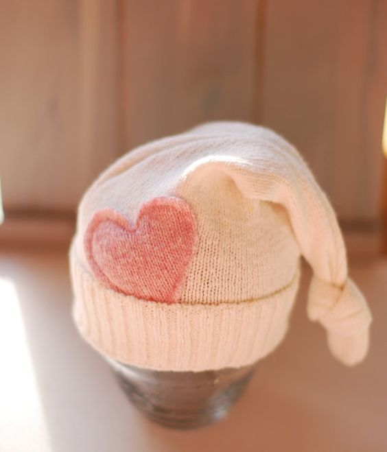 Upcycled baby hat $26.00