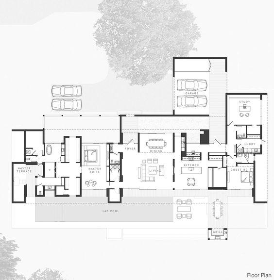 Floor Plan, Eco-Friendly Contemporary Home in Winter Haven, Florida