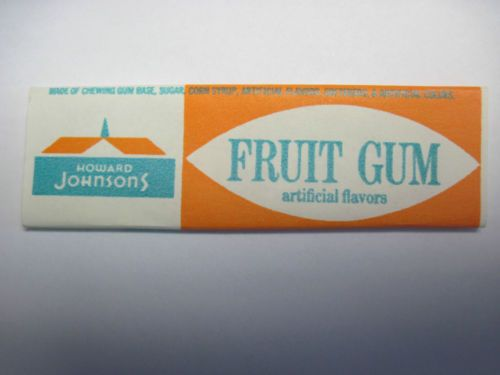 Howard Johnson's Fruit Chewing Gum Wrapper 1970's