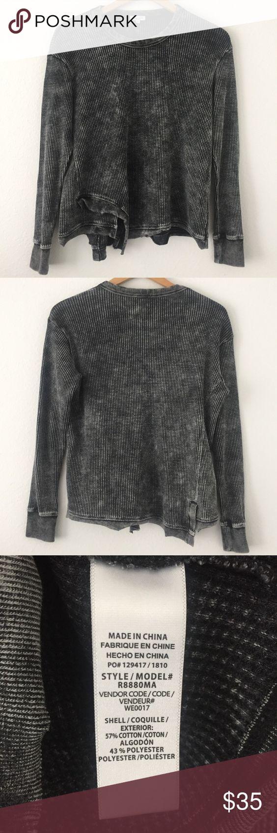 Splendid Aurora Waffle Knit Sweatshirt Thermal Knit Sweatshirt Waffle Knit Clothes Design [ 1692 x 564 Pixel ]