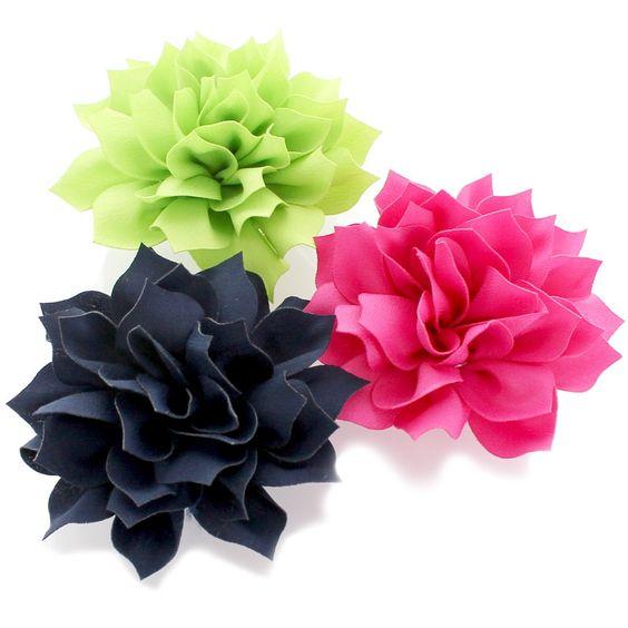 """3.5"""" Medium Petal Blossom Hair Flower"""