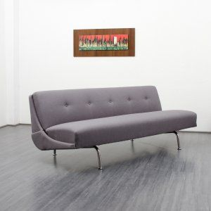 sofas 1960s sofa with folding mechanism, new cover and upholstery (no. 5789) Karlsruhe Velvet-Point